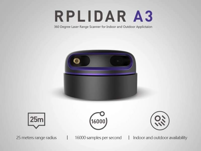 Rplidar A3M1 360 Degree Laser Scanner Kit - 25M Range - Infra Red