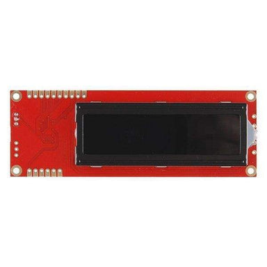 Serial Enabled 16x2 LCD - Red on Black 5V (LCD-09394) - LCD Displays