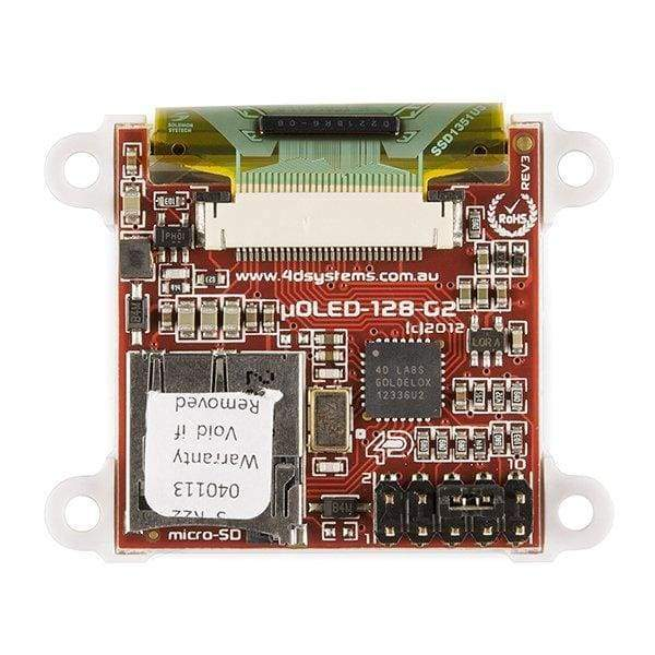 Serial Miniature OLED Module - 1.5 (ë_OLED-128-G2-GFX) - OLED Displays