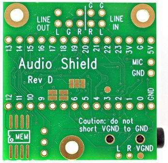 Teensy Audio Board for Teensy 4.0 - Audio