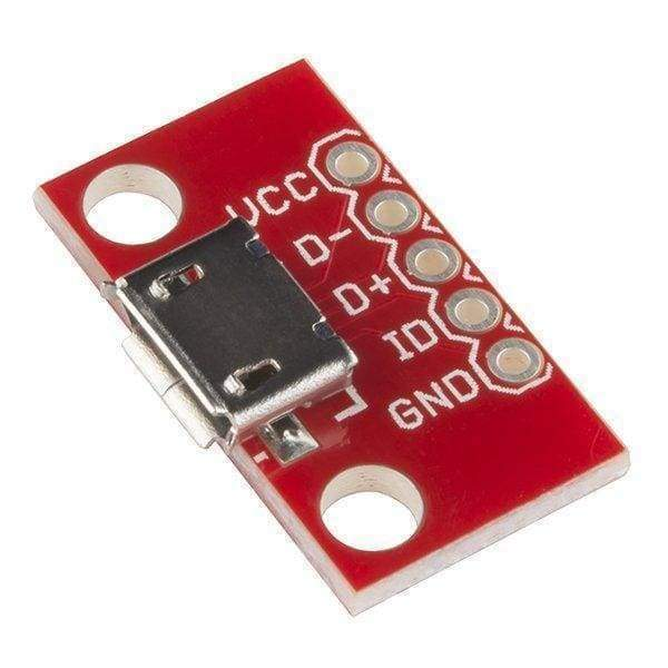 Usb Micro B Socket Breakout Board (Bob-12035) - Connectors
