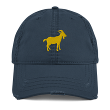 Load image into Gallery viewer, G.O.A.T. Distressed Dad Hat