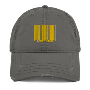 Bar Code Distressed Dad Hat
