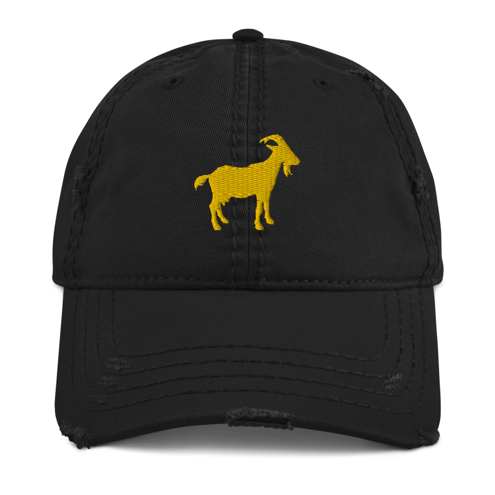 G.O.A.T. Distressed Dad Hat