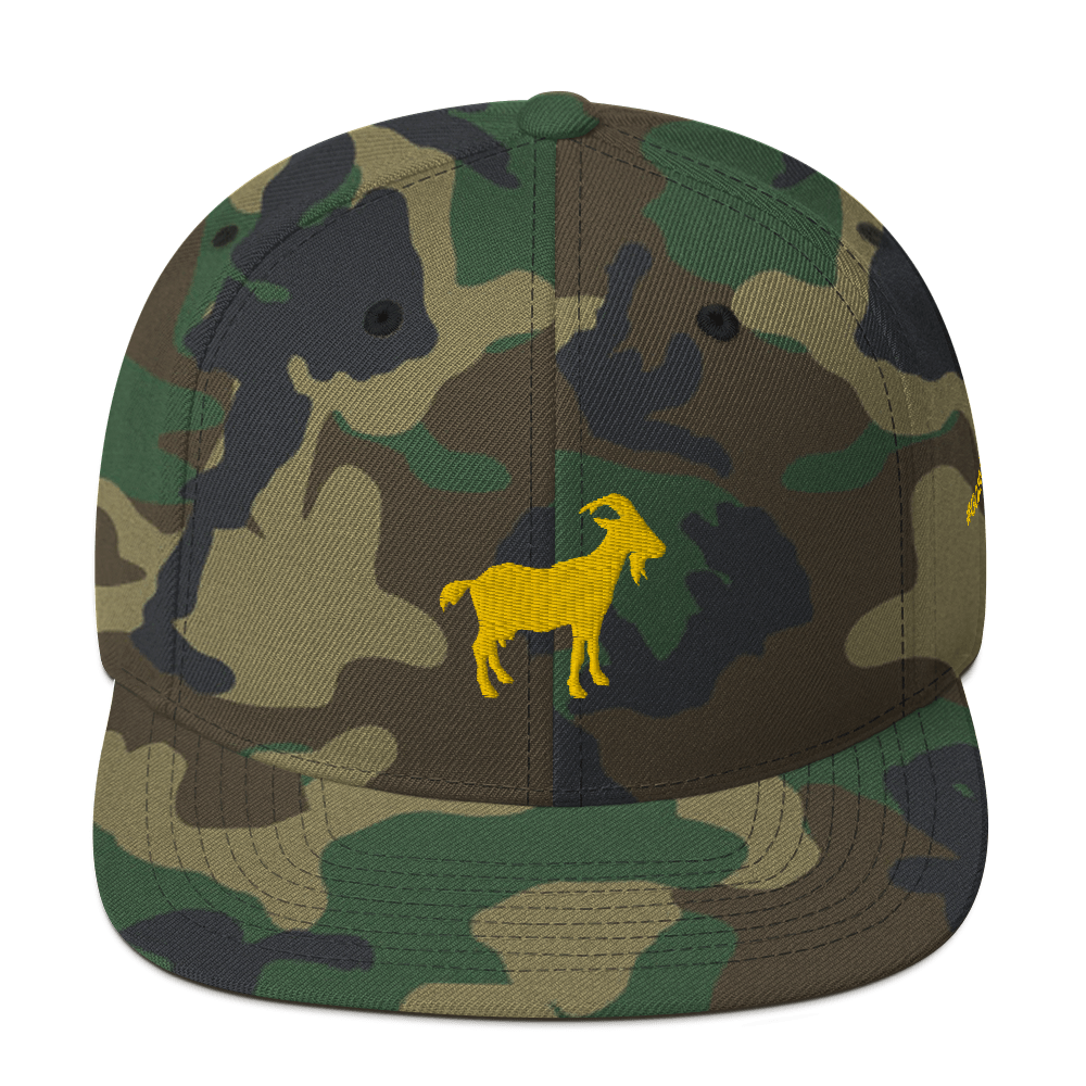 G.O.A.T. Camouflage Snapback Hat