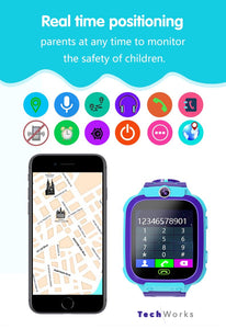 "New 2020 Kids Smart Watch ""Anti-Lost"" GPS System w Voice Chat"