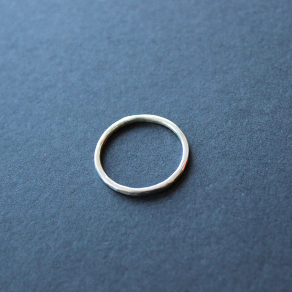 Hammered stacker ring