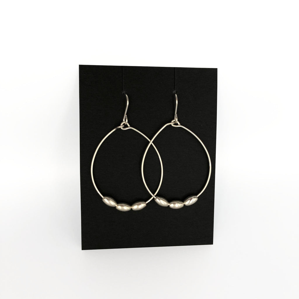 Hoop Bean Earrings
