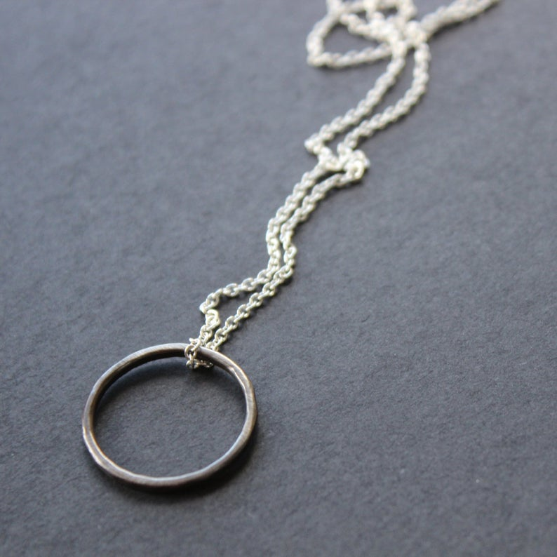 Oxidised Ring Necklace