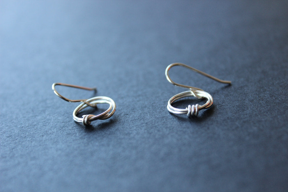 Round Wire Wrapped Earrings