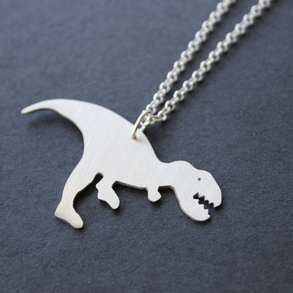 Walking T-rex Necklace