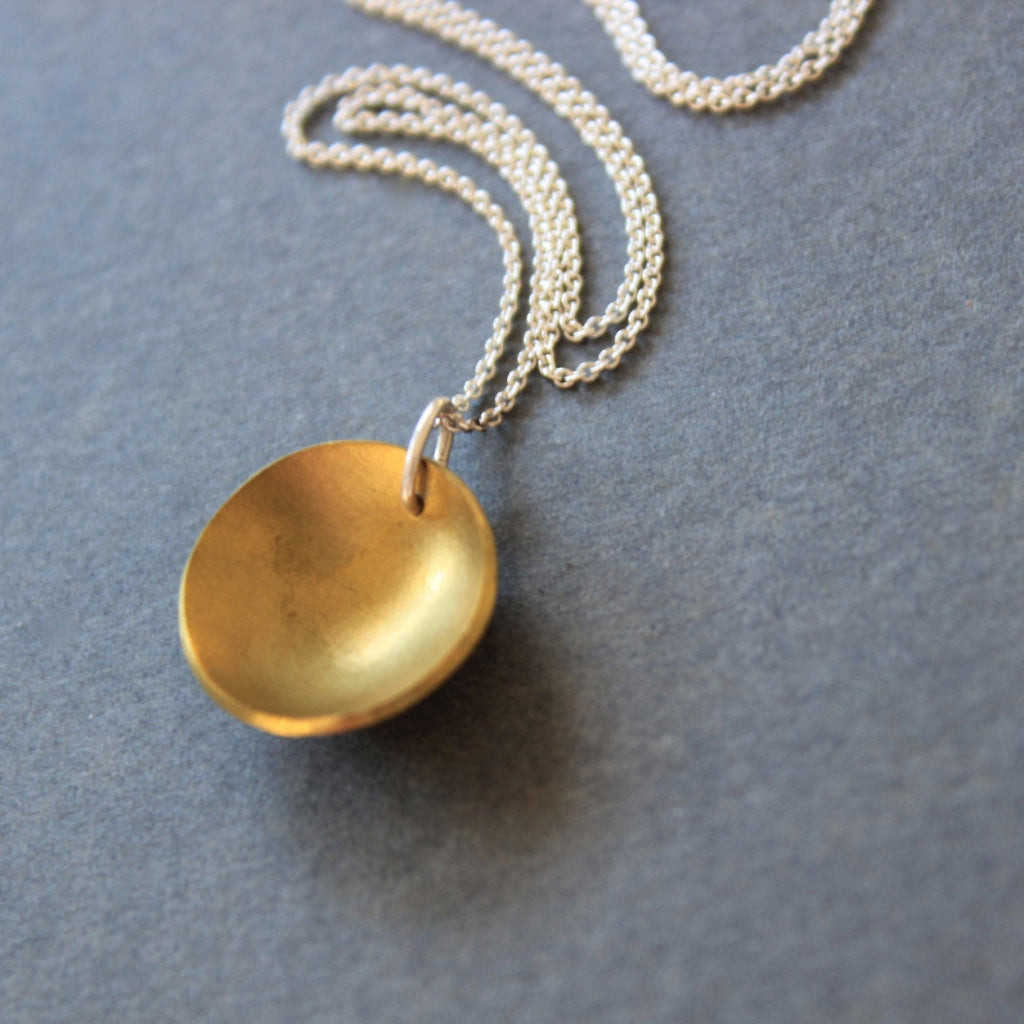 Brass Concave Necklace