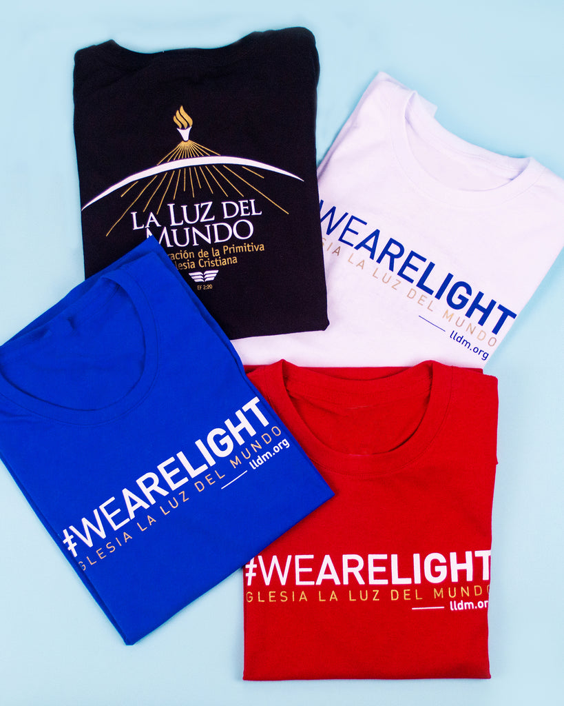 Playera #WEARELIGHT para Caballeros
