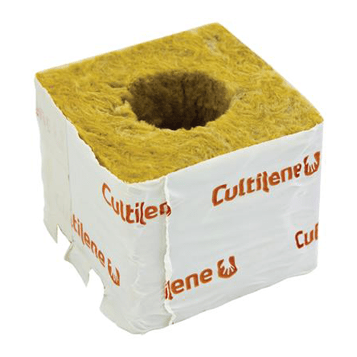 Cultilene Rockwool Cube 75mm - Large Hole - London Grow