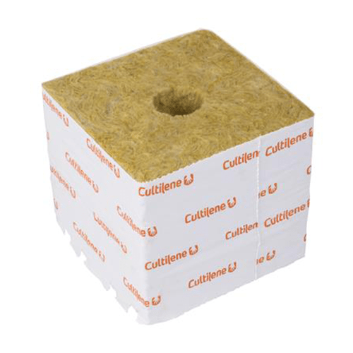 Cultilene Rockwool Cube 150mm - Large Hole - London Grow