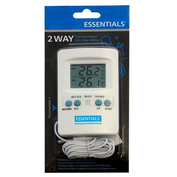 Essentials - Digital 2 Way Thermometer with Cable - London Grow