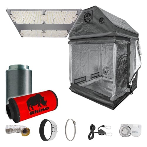 LED Complete Grow Kit for Loft - 1.2m2 Silenced / No / None - London Grow