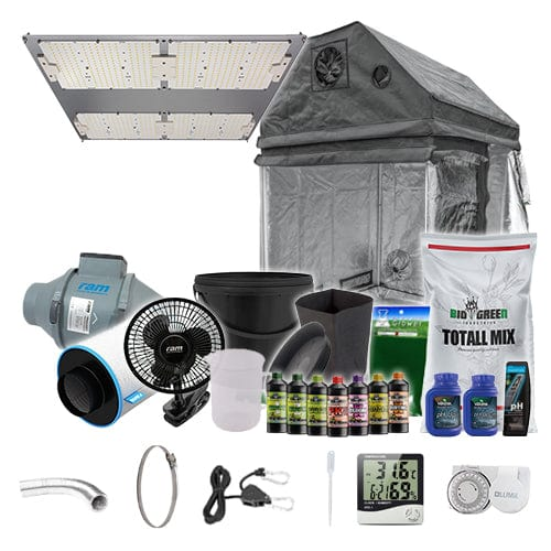 LED Complete Grow Kit for Loft - 1.2m2 Non Silenced / Yes / Complete Add Ons - London Grow
