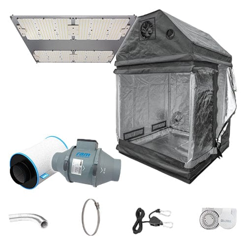 LED Complete Grow Kit for Loft - 1.2m2 Non Silenced / No / None - London Grow