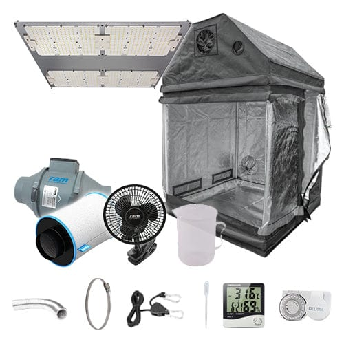 LED Complete Grow Kit for Loft - 1.2m2 Non Silenced / No / Basic Add Ons - London Grow
