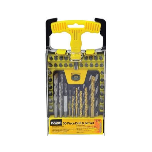 Rolson - 50pc Drill Bit Set - London Grow