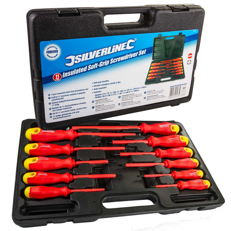 Silverline - 11pc Insulated Screwdriver Set - London Grow