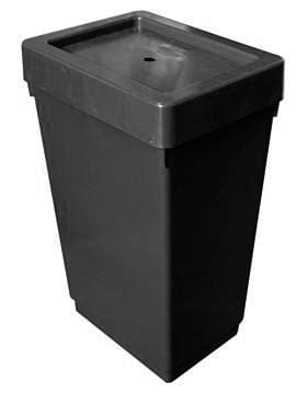 Autopot - 47L Tank With 6mm Grommet And Lid (Black) - London Grow