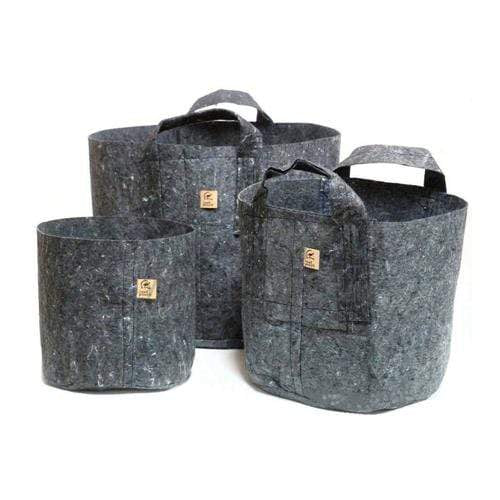 Root Pouches Grey Fabric Pot - London Grow