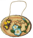 Woodland Cement Inspirational Hanging Plaques (SET OF 1, HOPE)