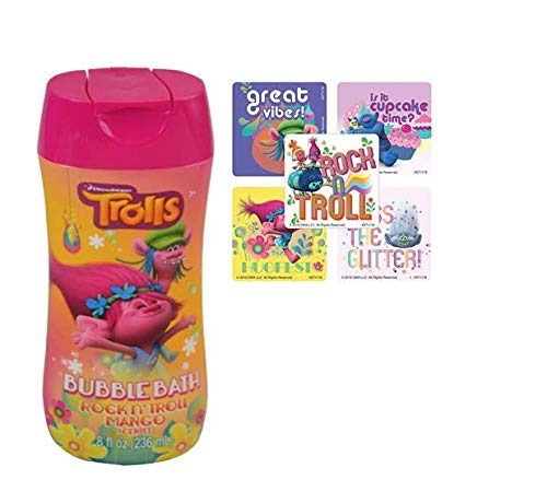 Dreamworks Trolls Bubble Bath Bundle with Stickers