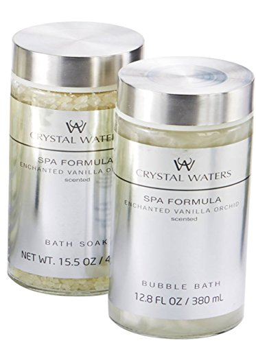 Crystal Waters Enchanted Vanilla Orchid Scented 2pcs Bath se