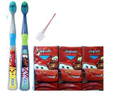 Disney Car 8pc Bathroom Collection! Includes 2pk Soft Manual Toothbrush & 6pk Pocket Tissue! Bundle