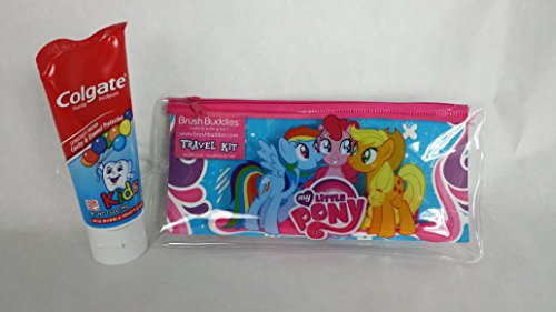 My Little Pony Toothbrush, Travel Pouch, Toothbrush Cap Plus Mild Bubble Fruit flavored Cavity Protection