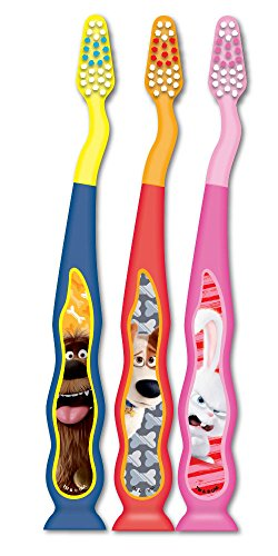 Firefly Secret Life Of Pets Kids Soft Toothbrushes, 3 Count  (Pack of 6)