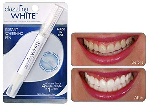 Dazzling White Instant Teeth Whitening Pen, 4 Shades Whiter in a Week (2 Packs)