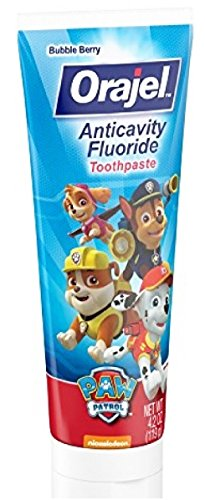 Paw Patrol Marshall Toothbrush & Toothpaste Bundle; 3 Items: Spinbrush Toothbrush, Bubble Berry Toothpaste, Marshall Kids Rinse Cup