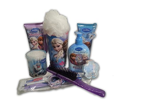 Frozen Bath and Beauty Gift Basket Body Wash and Hand Soap Brush