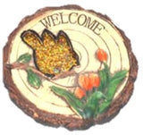 Stepping Stone says Welcome with Bird and Flower ( GOLD)