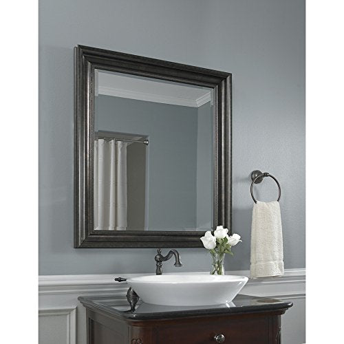 Style Selections Black Square Mirror #0312901