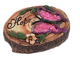 Garden Collection Woodland Round Cement Decorative Stones one stone 'HOPE'