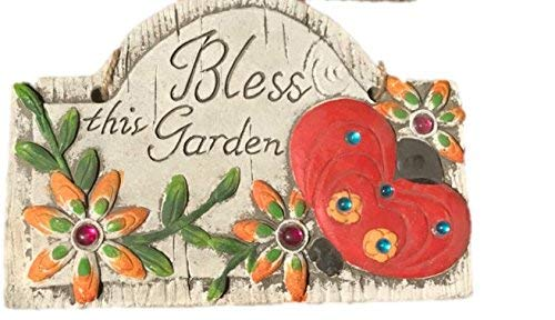 Concrete Wall Plaques for Garden with Sayings Lady Bug