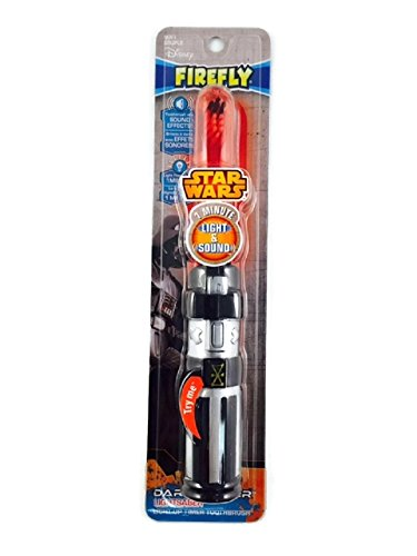 Star Wars Lightsaber Toothbrush Bundle Timer Lights Cup Toothpaste Darth Vader Minute!