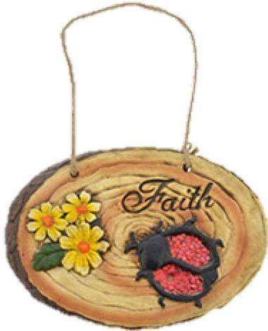 Woodland Cement Inspirational Hanging Plaque (ONE STONE: FAITH)