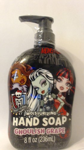 Monster High Moisturizing Hand Soap, Ghoulish Grape, 8 Ounces