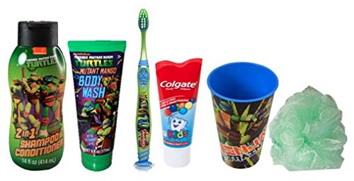 Nickelodeon Teenage Mutant Ninja Turtles Mutant Mango Scented Bath Gift Set (6Pcs)