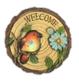 Outdoor Garden Decor: Welcome with birds stepping stones (pack of 1 orange bird)