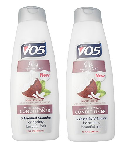 Alberto VO5 Silky Experiences Island Coconut Moisturizing Conditioner (Pack of 2)