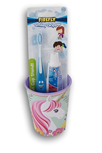 Unicorn Tooth Brushing Kit - Toothbrush, Toothpaste, and Rinsing Cup