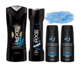 AXE Anarchy For Him Bath & Body 4pcs Gift Set Bundle with Bonus Bath Sponge!!!!!
