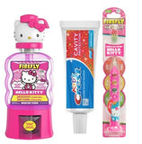 Firefly Hello Kitty Ready Set Go Light Up Toothbrush, Crest Kids Toothpaste Plus Bonus Firefly Hello Kitty Melon Kiss Flavor Anticavity Fluoride Rinse